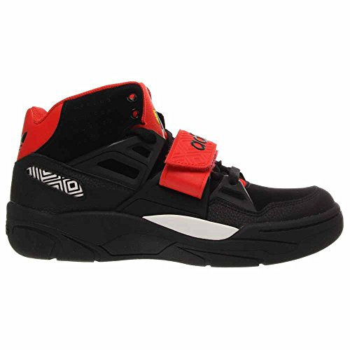 Adidas Mens Mutombo Tr Block Shoes # 98038 (blk / Blk / Hi Ris Rosso) Nero / Nero / Hi Res Rosso