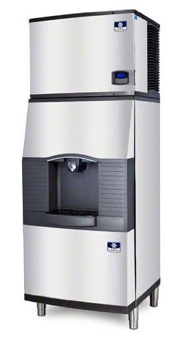 Manitowoc IY-0696N-SPA-310 642 Lb Remote-Cooled Full Cube Ice Machine w/ SPA-310 Hotel Dispenser