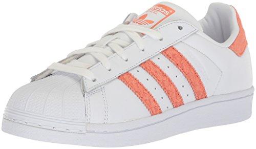adidas Women's Superstar W Sneaker, Ftwr White, Chalk Coral s, Off White, 6.5 M US ()