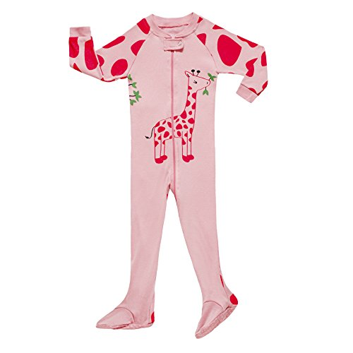 Infant Baby Girls Footed Pajamas