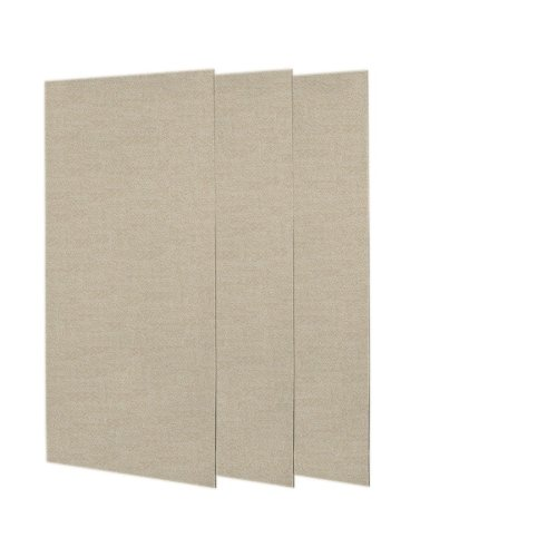 Swanstone SS-3672-3-060 Solid Surface 3 Panel Shower Side and Back Wall, Winter Wheat ()