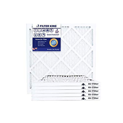Filter King 30x30x1 Air Filters | 6 Pack | MERV 8 HVAC Pleated AC Furnace Filters, Protection Against Mold and Pollen, Allergen Reduction, Increases Air Quality | Actual Size 29.5x29.5x1