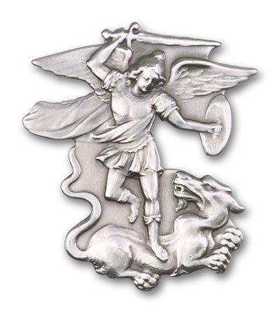 st-michael-the-archangel-antique-silver-visor-clip-police-officers-emts