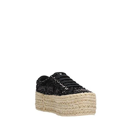 Jeffrey Campbell ZOMG JUTE Wedge Women Textile Fabric Black 41 cmAhe9