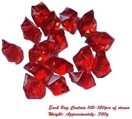 Clear Acryl Crushed Ice Eis Felsen Würfel für Vase Füller und Tischdekoration - Über 105-120 Stück (Transparent)