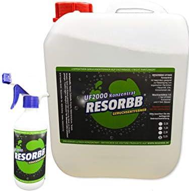 RESORBB® UF2000 Geruchsentferner 5l. 5-fach-Konzentrat + leere Sprühflasche