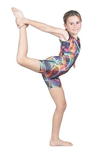 (Delicate Illusions Girl Unitard Biketard Gymnastics Outfit Apparel M (6-7 yrs) Rave Party )