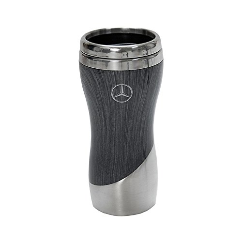 Mercedes-Benz Gray Wood Grain 16 oz Tumbler Coffee Mug