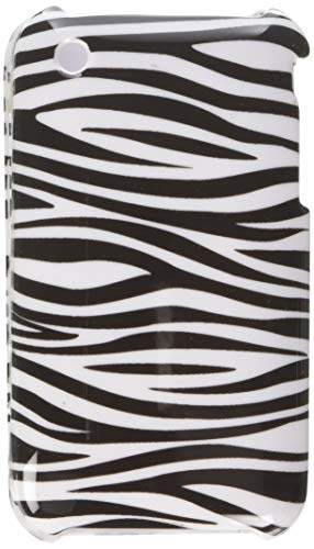 - Eagle Cell PIIPHONE3GG128 Stylish Hard Snap-On Protective Case for iPhone 3G - Retail Packaging - Zebra Black/White