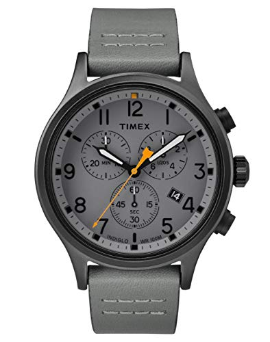 Timex Allied Grey Dial Leather Strap Men's Watch TW2R47400
