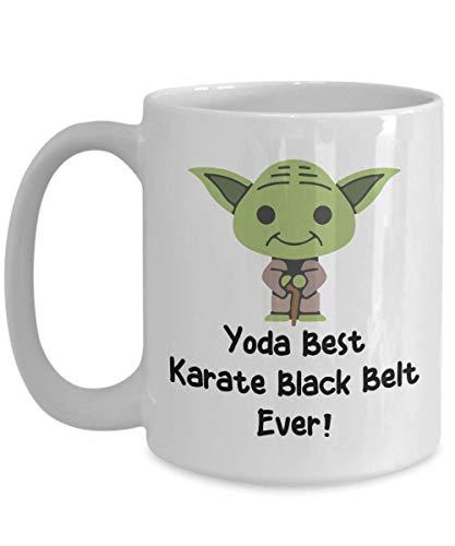Best Karate Black Belt Ever Mug - Funny Best Karate Black Belt Ever Gift - Yoda Collectors - Star Wars Mug - Yoda Best Karate Black Belt Pun Mug