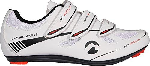Piu Miglia Strada ciclismo de carretera zapatos Blanco blanco Talla:EU 46 Blanco - blanco