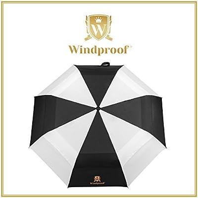 Mejor toldo paraguas a prueba de viento, irrompible, fácil llevar para viaje, compacto y ligero, prácticamente indestructible 60 mph vientos, ...