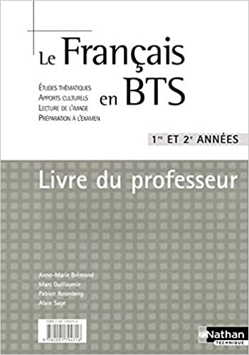Le Francais En Bts 1e Et 2e Annees French Edition