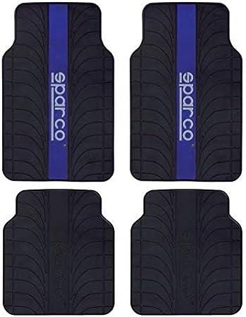SPC SPC1913AZ Juego de Alfombras Universales PVC/Latex Para El Coche, Negro/Azul