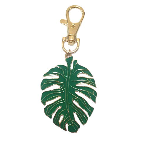 (Kockuu Green Leaf Keychain Bag Charms - Key Ring Accessories Women Purse Pendant Holiday Gift)
