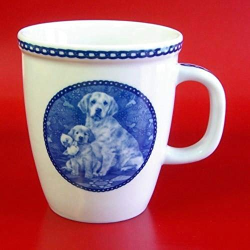 Golden Retriever - Porcelain Mug made in Denmark Premium Quality and Design from Lekven. Perfect Gift For all Dog Lovers. Size - 4.2 inches.