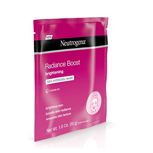 Neutrogena Radiance Boost 100% Hydrogel Skin Brightening & Moisturizing Face Mask with Vitamin B3, 1 oz