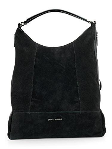 Phive Rivers donna in pelle Hobo bag (nero) (PR1094) Baja Tarifa De Envío En Línea Venta De Separación Caliente q4qA1rHCp