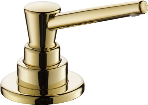 Pb Kitchen Faucet Polished Brass - Delta Faucet RP1001PB Soap/Lotion Dispenser with 13oz bottle with funnel, Polished Brass
