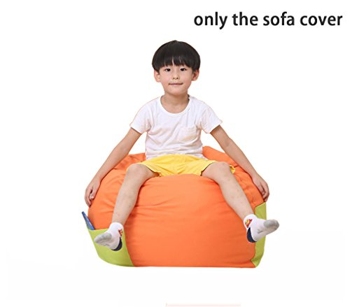 Quwei Children pocket lazy sofa small sofa sofa chair baby small sofa (orange) by Quwei