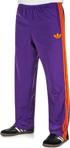 f85492e4f223 adidas Originals Firebird Men s Tracksuit Bottoms eggplant collegiate  orange Size M