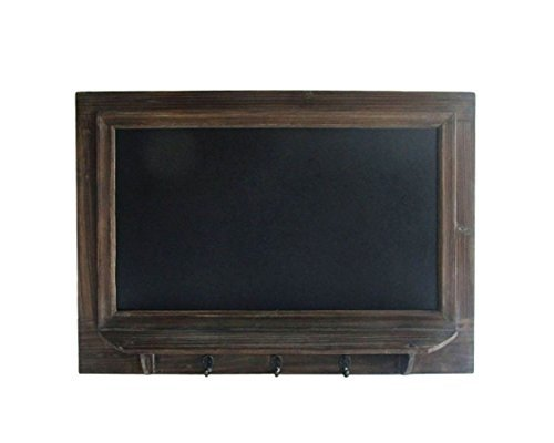 Cheung's FP-3639 Wall hanging Chalkboard with chalk tray and 3 metal hooks, Brown, Black by Cheung's