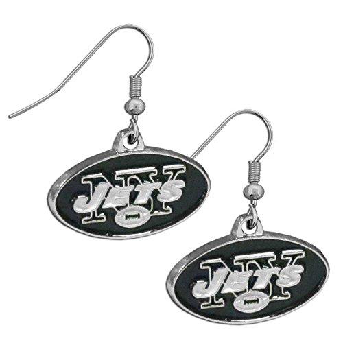 Jet Dangle (NFL New York Jets Chrome Dangle Earrings)