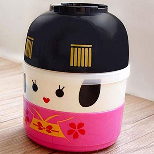Older Fruit Dessert Bowl - Children Cartoon Dessert Case Storage Student Double Layer Lunch Box For Kids School Bento Food Container 850Ml