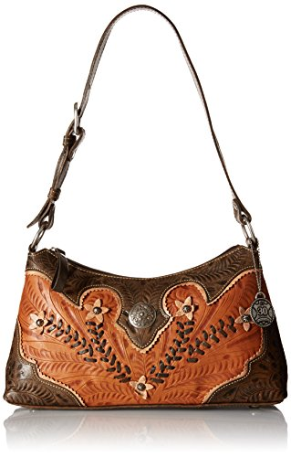 American West Womens Purse (American West Desert Wildflower Shoulder Bag, Golden Tan)