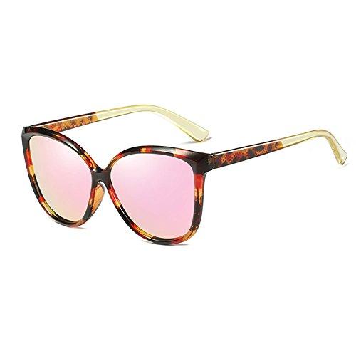 4 Cara Gafas DT Sol Caja Redonda Gafas Femenina Moda Color de Sol Retro Marea de Señoras 5 azxzB