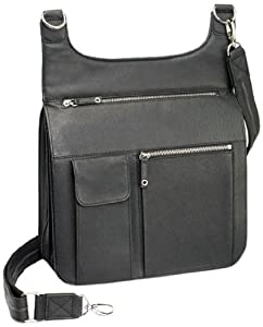 Gun Tote'n Mamas Concealed Carry Jennifer's Traveler Cross-Body Shoulder Bag, Black, Small