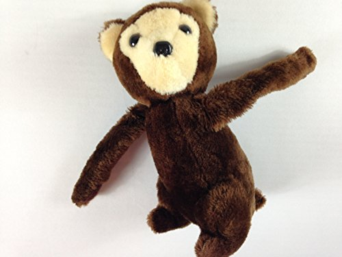 Fun Farm Stuffed Monkey Vintage 1978 Dakin Plush Arms Hands Hold Together Cute - Monkey Stuffed Vintage