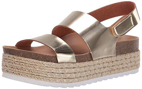 Dirty Laundry by Chinese Laundry Women's Peyton Espadrille Wedge Sandal Gold Metallic 7.5 M US