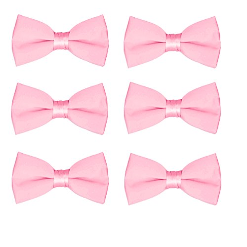 Adjustable Solid Color Pre Tied Bowties 6PCS Boys Children Formal Bow Ties Purple