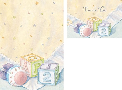 Hortense B. Hewitt 20/24 Count Baby Blocks Invitation and Thank You Note Card Kit