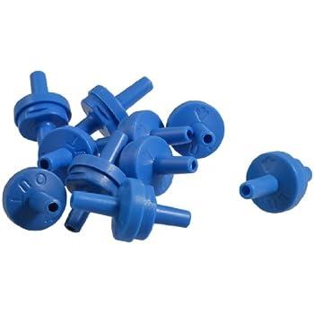 Jardin Plastic Air Pump 10-Piece Check Valves for Fish Tank, Blue