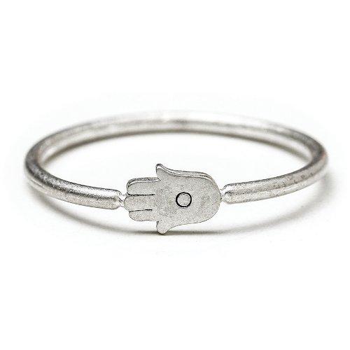 Dogeared Hamsa Ring, Sterling Silver