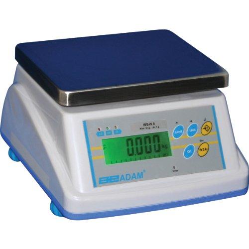 Adam Equipment WBW 5a Washdown Bench Scale, 5lb/2000g Capacity, 0.0005lb/0.2g Readability