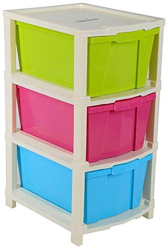 Joyful Plastic Modular 3 Drawer Set (50 cm x 32 cm x 23 cm)