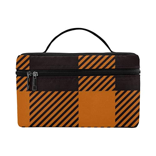 Halloween Tartan Trendy Lunch Box Tote Bag Lunch Holder Insulated Lunch Cooler Bag For Women/men/picnic/boating/beach/fishing/school/work]()