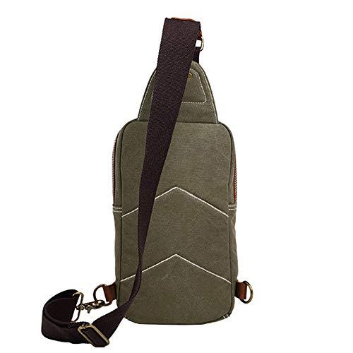 Da Wy Tessuto gray Green Tracolla Sacca Per Escursionismo Borsa Uomo 39cm Petto 18 Informali Borse A Sport Zaino Tela Tracolla Di ayng Lavoro 8 EFwqrF