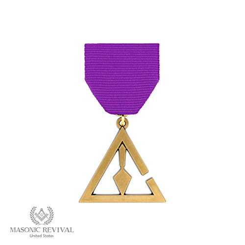 Cryptic Council Masonic Breast Jewel Medal by Masonic Revival