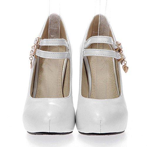Fashion White Jane Shoes Mary AicciAizzi Women vqw5A6qPT