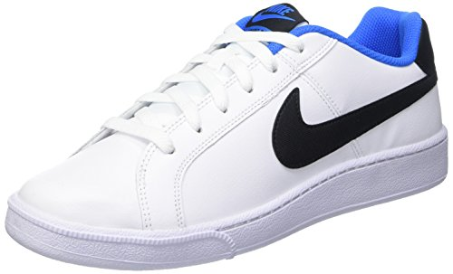 NIKE Court Royale, Scarpe da Ginnastica Uomo Multicolore (White/Black/Photo Blue)