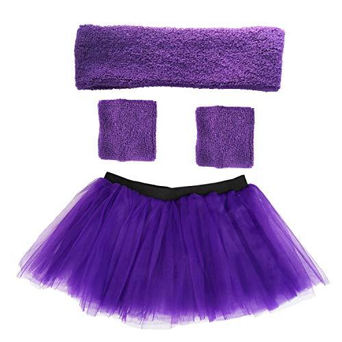 Danballto Running Tutu Skirts for Women Sweatband Headband Wristbands Set Plus Size