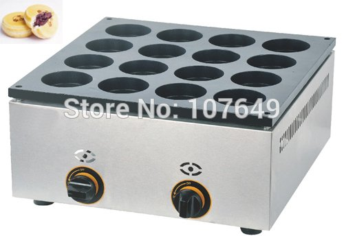 Hot Sale 16pcs Commercial Use Non-stick LPG Gas Dorayaki Japanese Pancake Machine Baker Maker