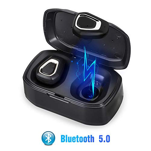 EEEKit Bluetooth 5.0 Bass True Wireless Headphones, Sports Wireless EarbudsEarphones, Built-in Microphone for iPhone, Samsung, Android Phone, All Bluetooth Enabled Devices