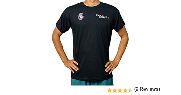 Alpimara Camiseta Policía Nacional 100% Algodon Adulto (Negro, XS ...