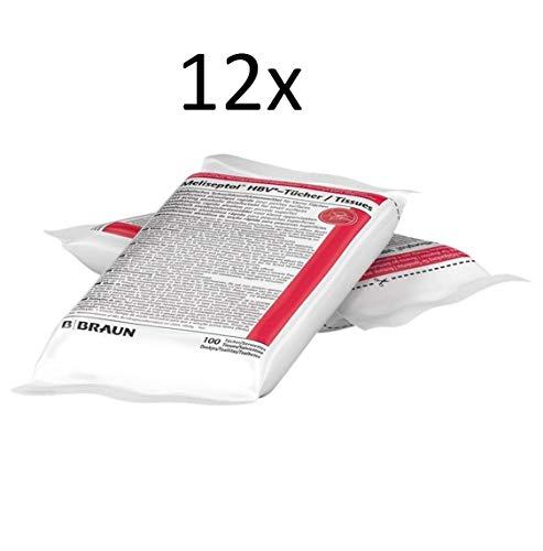 Meliseptol HBV Desinfektionstücher 12 x 100 Tücher für Spenderbox ein kompletter Karton -> 4,16€ pro Packung